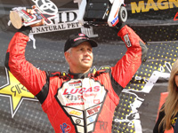 Carl Renezeder bounces off the wall and back to top form at Glen Helen.